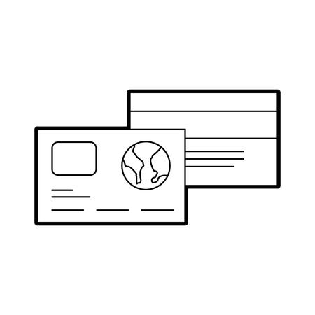 credit debit card banking shop vector illustration Illustration