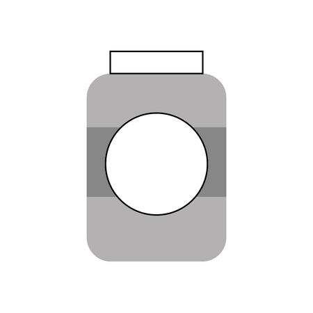 bottle sausage market condiment ingredient icon vector illustration 版權商用圖片 - 85494471