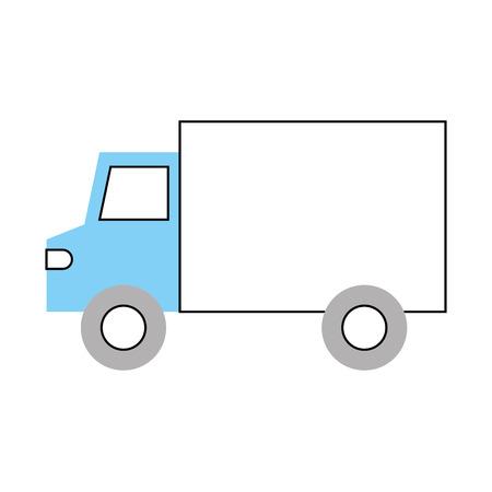 Camión, vehículo, transporte, supermercado, icono, entrega, vector, ilustración Foto de archivo - 85494487