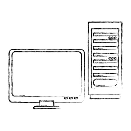 lcd display: computer desktop isolated icon vector illustration design Illustration