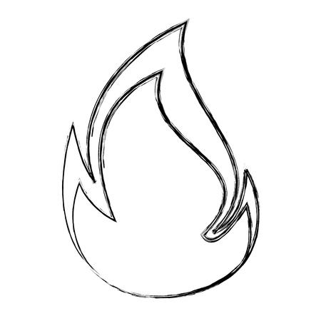 Vuur vlam geïsoleerd pictogram vector illustratie ontwerp Vector Illustratie
