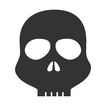 Diseño del cráneo alerta símbolo icono vector ilustración Foto de archivo - 85484168