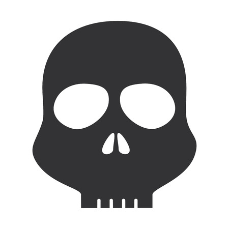 skull alert symbol icon vector illustration design Imagens - 85484168