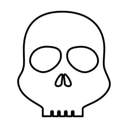 スカル警告シンボルアイコンベクトルイラストデザイン