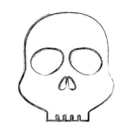 Diseño del cráneo alerta símbolo icono vector ilustración Foto de archivo - 85484086