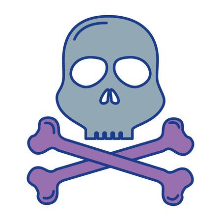 skull alert symbol icon vector illustration design Imagens - 85484227