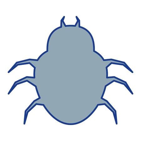 spider virus infection icon vector illustration design