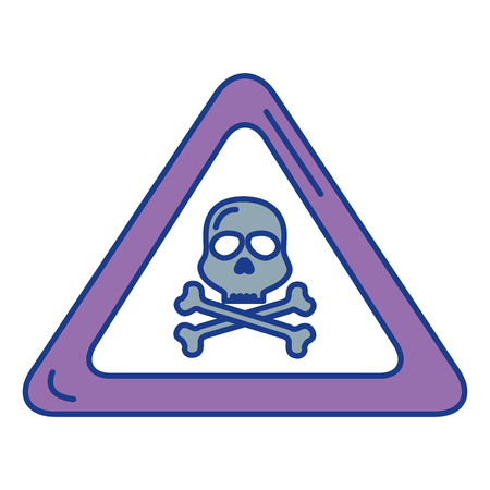 skull alert symbol icon vector illustration design Reklamní fotografie - 85494512