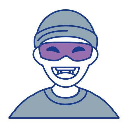 Dieb gefährlicher Avatar Charakter Vektor-Illustration Design Standard-Bild - 85494517