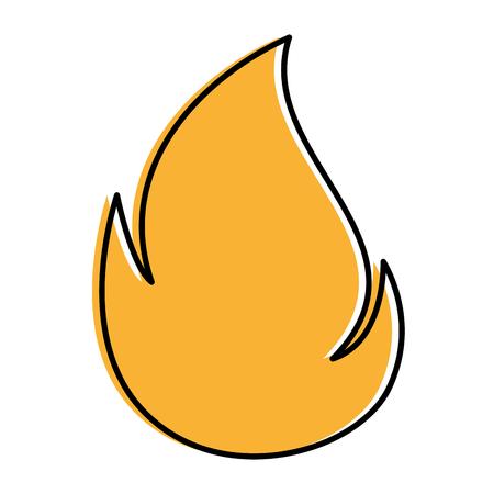 火災火炎分離アイコンベクトルイラストデザイン