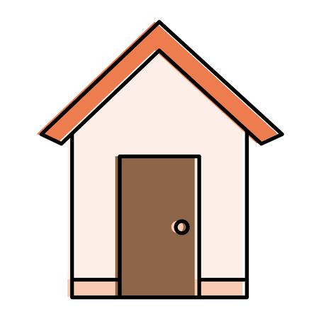 집 외관 절연 아이콘 벡터 일러스트 디자인
