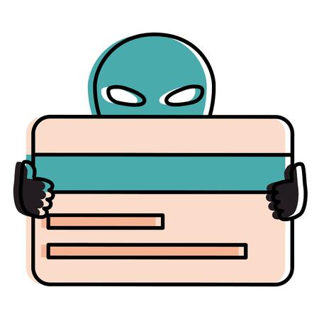 외계인 신용 카드 벡터 일러스트 디자인 일러스트