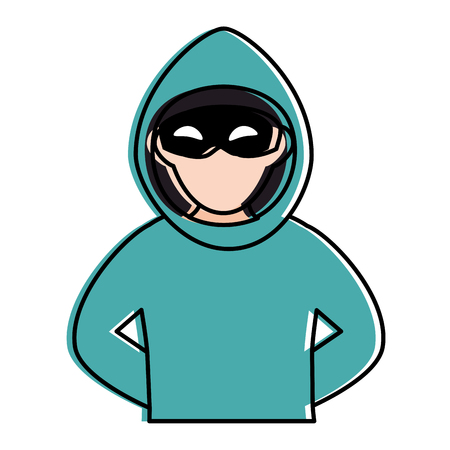 Dieb gefährlicher Avatar Charakter Vektor-Illustration Design Standard-Bild - 85481945