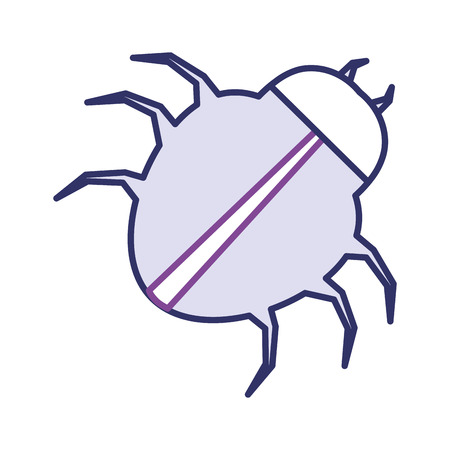 spider virus infection icon vector illustration design
