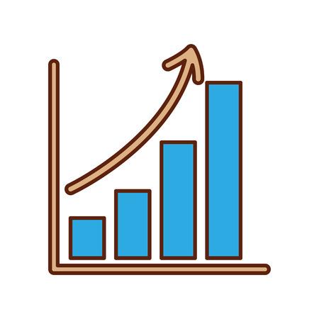 비즈니스 성장 막대 그래프 금융 증가 벡터 일러스트 레이션 일러스트
