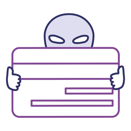 alien with credit card vector illustration design