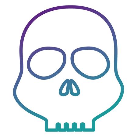 두개골 경고 기호 아이콘 벡터 일러스트 레이 션 디자인