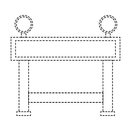 Icône de clôture de construction icône illustration vectorielle Banque d'images - 85482431
