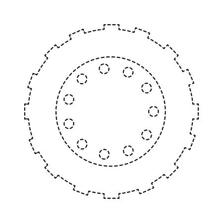 トラクタータイヤ分離アイコンベクトルイラストデザイン  イラスト・ベクター素材