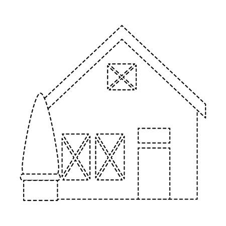 Holzhaus Struktur mit Baum Vektor-Illustration Design Standard-Bild - 85482447