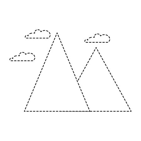 눈 덮인 산들 고립 된 아이콘 벡터 일러스트 디자인 스톡 콘텐츠 - 85482462