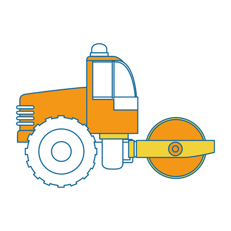 automotive industry: planer construction isolated icon vector illustration design Illustration