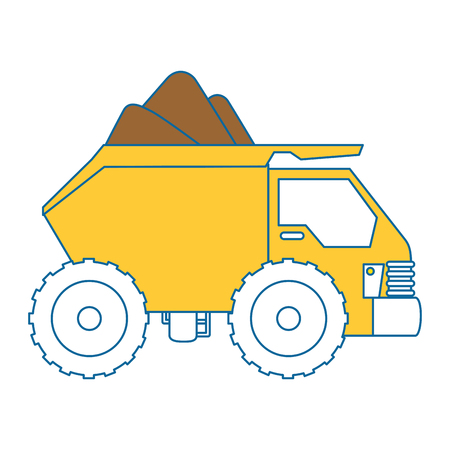automotive industry: dump truck isolated icon vector illustration design