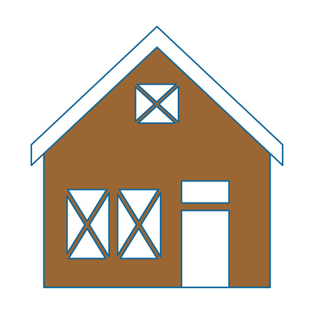 wooden house structure icon vector illustration design Stock fotó - 85482522