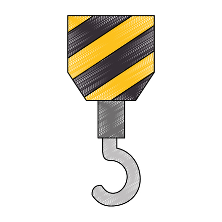 automotive industry: crane construction isolated icon vector illustration design