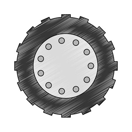 Traktor Reifen isoliert Symbol Vektor-Illustration Design Standard-Bild - 85482544