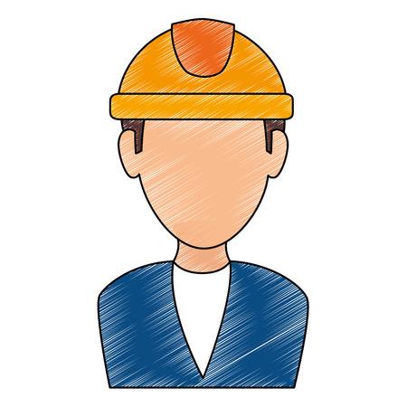 elegant engineer avatar character vector illustration design