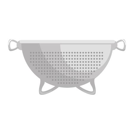 metallic strainer isolated icon vector illustration design Vetores