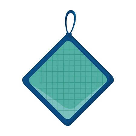keuken rag geïsoleerd pictogram vector illustratie ontwerp