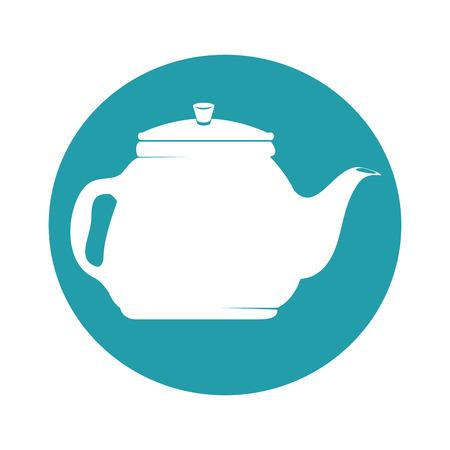 ティーポットキッチン分離アイコンベクトルイラストデザイン