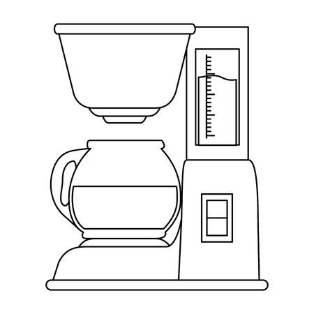 コーヒーマシン分離アイコンベクトルイラストデザイン