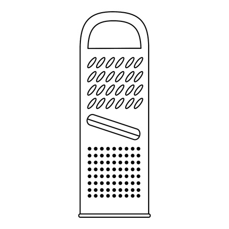 Ikonenvektor-Illustrationsdesign der Käsereibe lokalisiertes Standard-Bild - 85482668