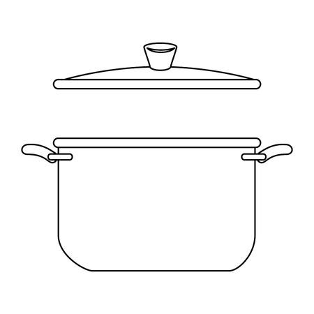 Olla de cocina aislado icono de ilustración vectorial de diseño Foto de archivo - 85482675
