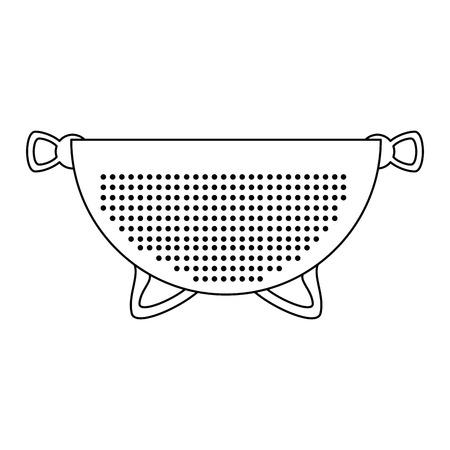metallic strainer isolated icon vector illustration design