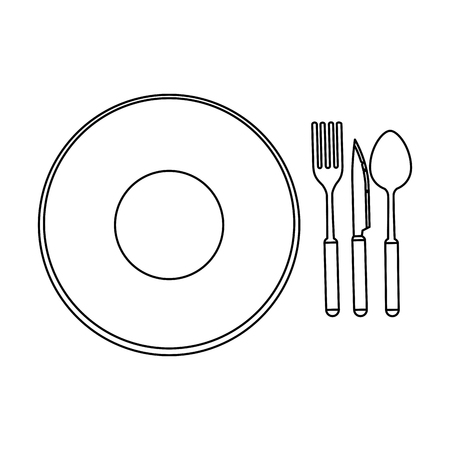 dish with cutlery icon vector illustration design Stok Fotoğraf - 85482686