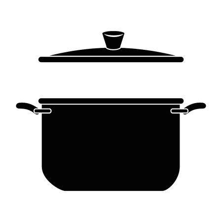 kitchen pot isolated icon vector illustration design Stock Vector - 85482779