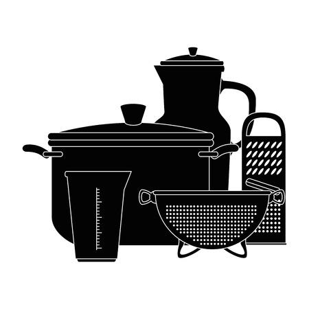 부엌 용기 벡터 일러스트 디자인의 집합 스톡 콘텐츠 - 85482792