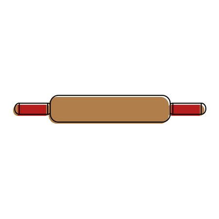 wooden roll pastry icon vector illustration design
