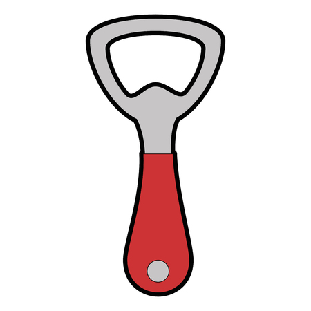 bottle opener kitchen cutlery icon vector illustration design 向量圖像