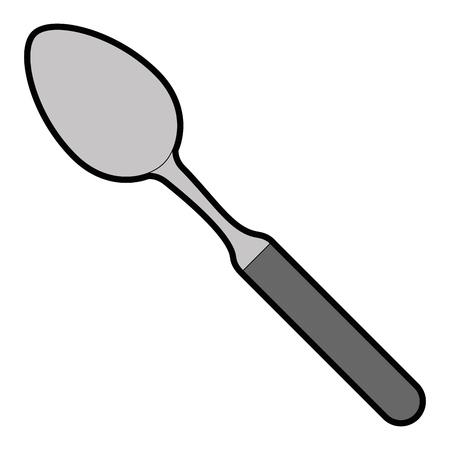 spoon kitchen cutlery icon vector illustration design Ilustracja