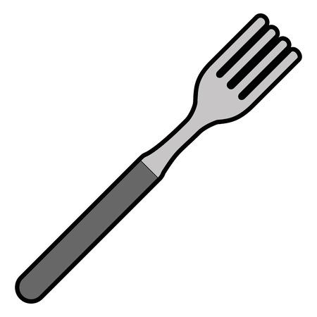 フォークキッチンカトラリーアイコンベクトルイラストデザイン