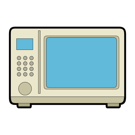 microwave oven isolated icon vector illustration design Imagens - 85484253