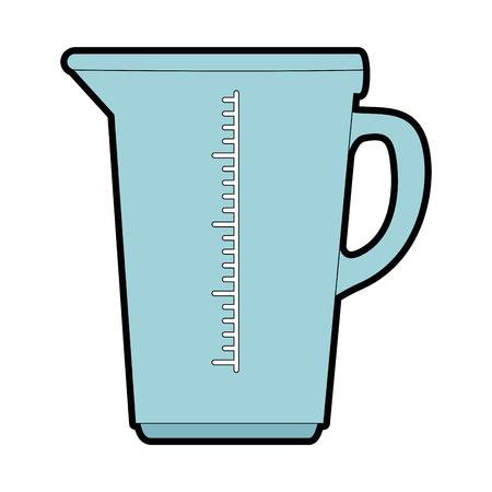 keukenliter pot pictogram vector illustratie ontwerp