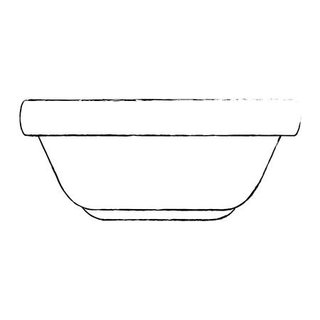 kitchen plastic bowl icon vector illustration design Ilustração