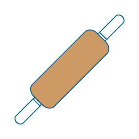 Diseño del ejemplo del vector del icono de los pasteles de madera del rollo Foto de archivo - 85566285