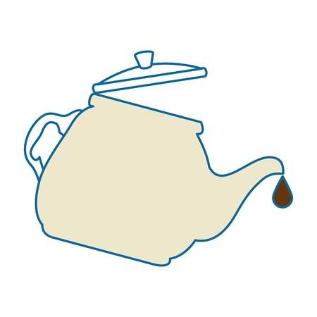 teapot kitchen isolated icon vector illustration design